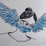 Maskentrost / Zeichnung