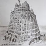 Turmbau / Zeichnung