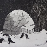 2018, Aquatinta und Kaltnadel, 15x20 cm