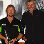 Clubsport 120 Club Champion Warren Riddick (L), Gary Soper (absent) was 2nd and Merv Hooper (R) in 3rd