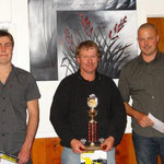 Rotax Max Heavies Club Champion Andrew Adlam (C), Aaron deRidder (L) was 2nd and Teri Collins (R) in 3rd