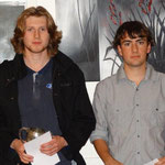 Yamaha Lights Club Champion Alex Geary (L), Scott Williams (absent) was 2nd and Aaron Marr (R) 3rd