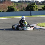 Mike Jury getting to grips with the new gearbox open kart. Mike completed 98 laps