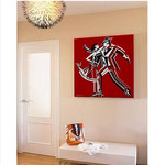 """Milonguita"", acrylic on canvas"