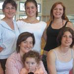 Sommermeisterschaften NKL 2005 Karie-team (hinten: Sarah Zoe Rahel, vorne Susanne mit Melina Nadia)