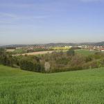 Ausblick auf Bernhardswald vom Ferienhaus Reisinger aus