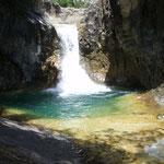 Garganta de Escuain, canyoning, baignade