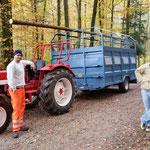 Vorbereitungsarbeiten im Mülliger Wald