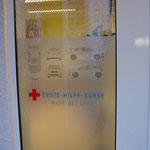 Bsp. Schaufensterbeschriftung in Dietzenbach, Fahrschule, Rhein-Main