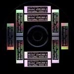 Typenschild mit Seriennummer, aus CD-Produktion geschleust