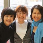 with my mentors, Mariko Miyauchi & Naoko Moriyama Robbins 宮内真理子さんと森山ロビンズ尚子さん - 大変お世話になり有難うございました!