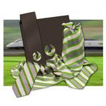 Tücher und Krawatten aus Twill Seide