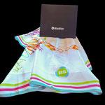 Biosim, Halstücher aus 100% Satin Seide im Digitaldruck