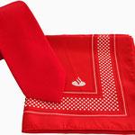 Halstücher und Krawatten f die Santander Bank