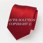 Gewebte Ottoman Seiden Krawatte in Rot in Seide