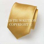 Gewebte Ottoman Seiden Krawatte in Gold in Seide