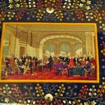 Tuchintarsienausstellung im Museum für Volkskunde
