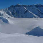 Piz Sardona über der Nebeldecke