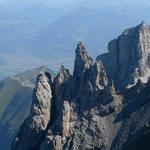 Blick von der Haute Cime ins Rhonetal