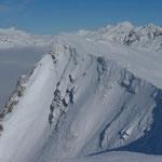 Die steile Westflanke des Fanenstocks