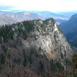 Der Bergrücken Le Dos d'Ane