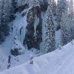 Eisfall am Sapünbach
