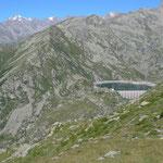 Lago d'Eugio mit Gran Paradisogruppe im Hintergrund