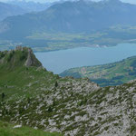 Blick vom Sigriswiler Rothorn auf den Thunersee
