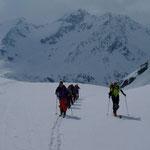 Aufstieg Richtung Grialetschhütte