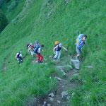 Steiler Aufstieg zum Hohgant Westgipfel