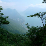 Tiefblick zum Lago di Lugano