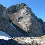 Steiler Aufstiegsweg unter der Corne au Taureau