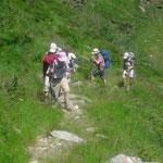 Aufstieg zur Bocchetta di Rimella
