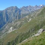 Hangquerung hoch über dem Vallone Piantonetto