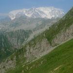 Blick vom Colle d'Egua auf die Monte Rosa