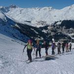 Aufstieg zur Maienfelder Furgga, oberhalb Arosa