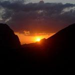 Sonnenuntergang bei der Cabanne de Susanfe