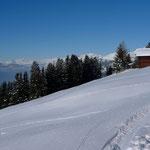Beim Skihaus Pirigen