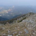 Blick vom Pizzo Ruscada nach Spruga ins Valle Onsernone