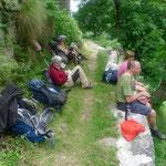 Rast im Aufstieg zur Alpe Barranca