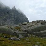 Gletscherschliffplatten im Vallone dei Gias della Losa
