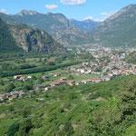 Blick ins Valle Aosta nach Pont Saint-Martin