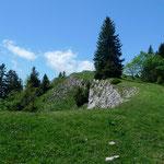 Auf dem Grat der Aiguilles de Baulmes