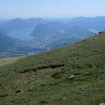 Aufstieg zur Caval Drossa, Blick nach Lugano