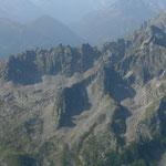 Blick vom Le Luisin zum Mont Blanc