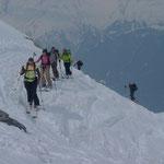 Kurz vor dem Gipfel des Büelenhorn
