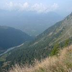 Blick von der Capanna Adula ins Val Soi