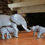 élephantet éléphanteaux 26 et 13cm
