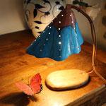 lampe peinte 27cm