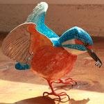 martin pêcheur peint 11 cm